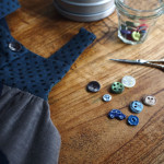 ボタンがいっぱいの裁縫箱
