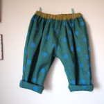 coccaのmizutama生地で手作りこども服