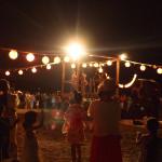 材木座海岸で『浜の盆踊り大会』