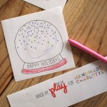 DIY「Snow Globe Card」
